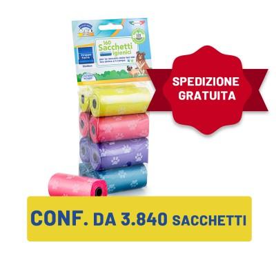 Confezione da 3.840 pezzi - Sacchetti igienici per le feci 20x30 cm + SPEDIZIONE GRATUITA